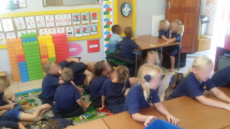 Pupils at Laerskool Schweizer-Reneke in the North West.