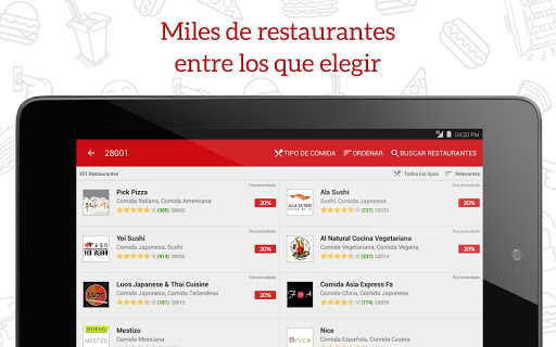 JUST EAT - Comida a domicilio screenshot 06