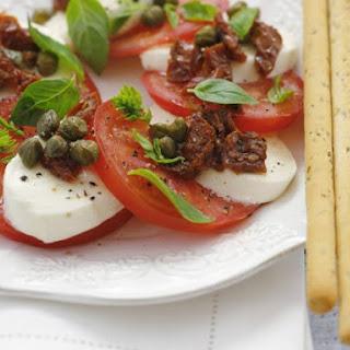 Italian Tomato Salad with Breadsticks