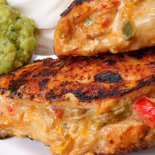 1. Fajita-Stuffed Chicken