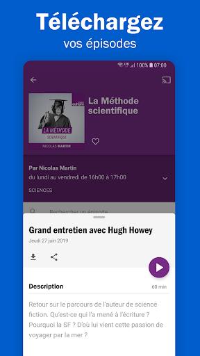 Radio France - podcasts, direct radios 6.5.2 screenshots 3