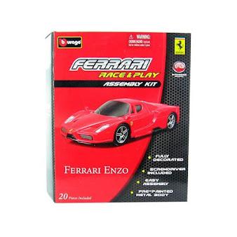Bộ lắp ghép xe Ferrari Enzo (Bburago Race & Play Assembly Kit) - Bburago 18-35201