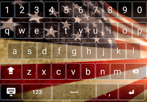 Keyboard Theme American USA