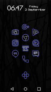 Glowist Bluish - Icon Pack v1.1