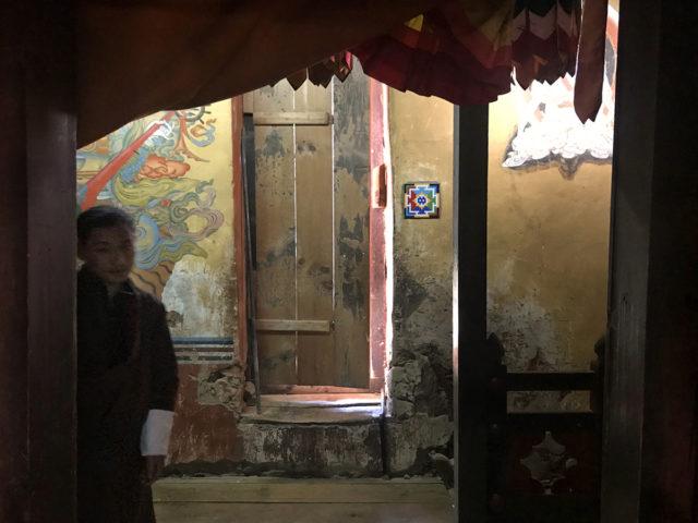 Invader mandalája a Chagri kolostorban