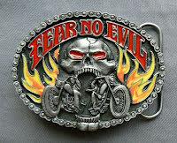 Bältesspänne Fear no evil