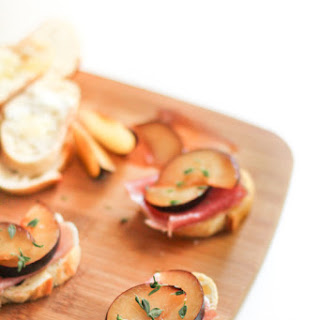Plum and Prosciutto Crostini.