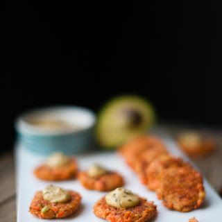 Avocado Salmon Patties with Spicy Chipotle Avocado Aioli