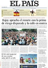 Photo: Rajoy aprueba el recorte con la prima de riesgo disparada y la calle en contra, Publio Cordón murió al intentar huir de sus secuestradores y el régimen sirio empieza a desvanecerse, en nuestra portada del viernes 19 de julio de 2012.http://srv00.epimg.net/pdf/elpais/1aPagina/2012/07/ep-20120720.pdf