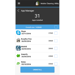 Mobile Cleaning Utility- screenshot thumbnail