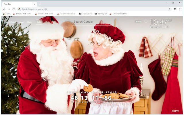 Santa Claus HD Wallpapers New Tab Themes