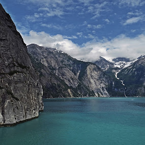 TRACY ARM FJORD by Gary Colwell - Landscapes Mountains & Hills (  )