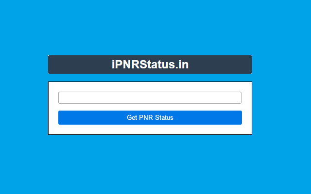 PNR Status of Indian Railways