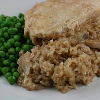 Crockpot Chicken and Brown Rice Casserole.