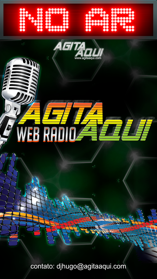 Web Rádio AgitaAqui.com: captura de tela