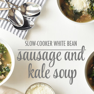 Slow-Cooker White Bean, Sausage and Kale Soup