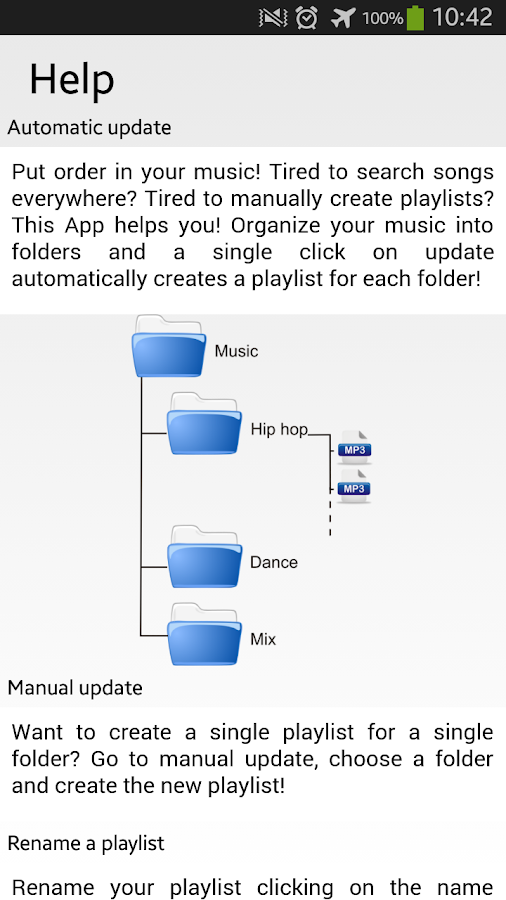 Playlist Organizer- screenshot