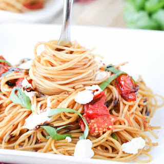 Roasted Tomato, Basil, And Goat Cheese Pasta