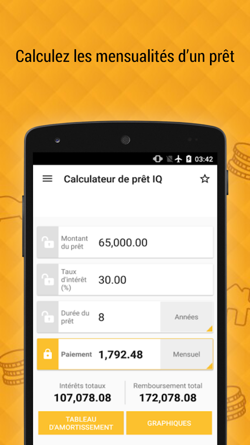 calculateur de pr t iq applications android sur google play. Black Bedroom Furniture Sets. Home Design Ideas
