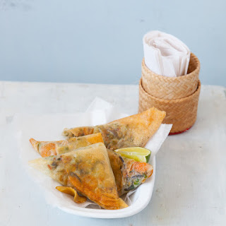 Mushroom Samosas With Goat's Cheese And Honey