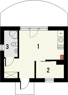 Domek 12 - Rzut parteru