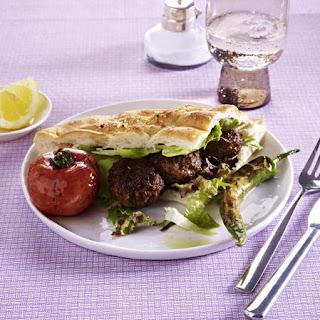 Lamb Kebab Pitas.