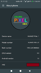 Colors Pixel Dark Theme for Huawei - náhled