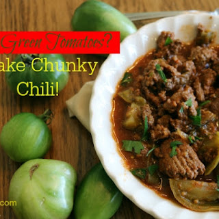 Slow Cooker Green Tomato Chili