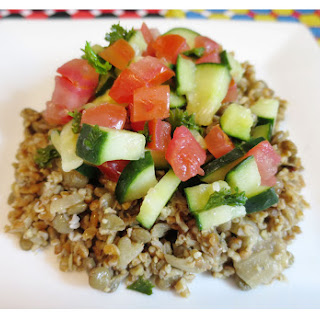 21 Day Fix Lentils & Bulgar Wheat with Arabic Salad