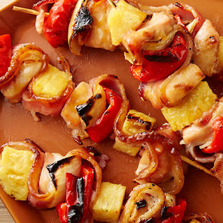 Bacon, Pineapple, Chicken Kabobs.