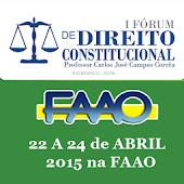I Fórum de Direito - FAAO
