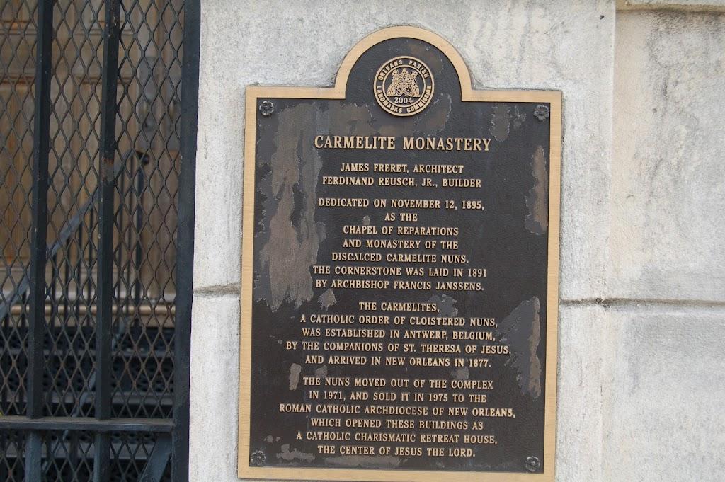 Read the Plaque - Carmelite Monastery