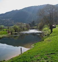 Photo: Et voilà le Doubs, calme et tranquille