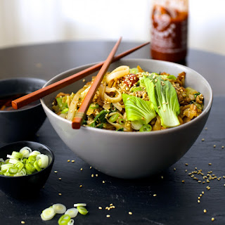 Noodles With Ginger, Pork and Bok Choy