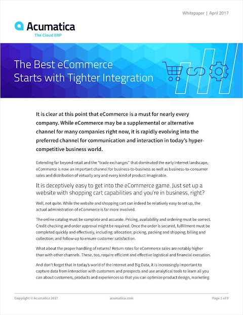 How The Best eCommerce Starts with Tighter Integration for Most Companies