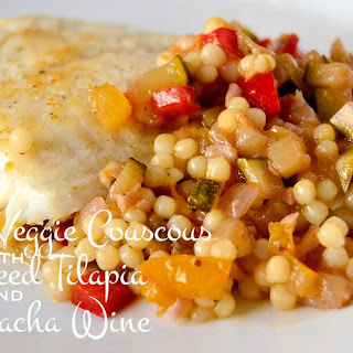 Summer Veggie Couscous with Pan Seared Tilapia and Garnacha