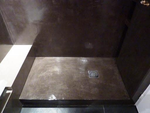 béton ciré douche à l'italienne