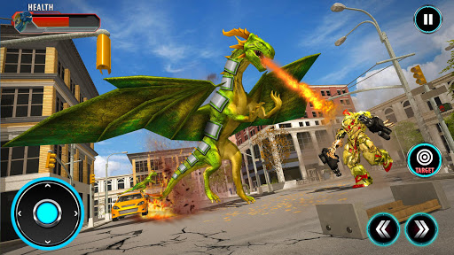 Deadly Flying Dragon Attack : Robot Games apkpoly screenshots 1