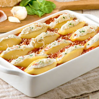 Four Cheese Alfredo-Stuffed Shells