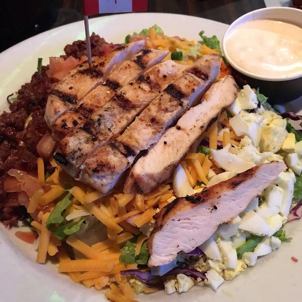 Chicken Cobb salad done Gluten Free