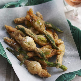 Stuffed and Fried Zucchini Flowers