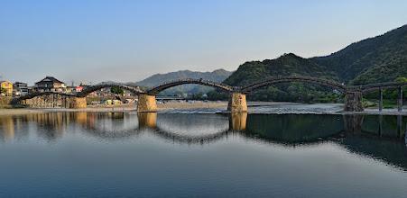 Photo: The Kintai Bridge in Iwakuni, Japan, crossing the Nishiki River