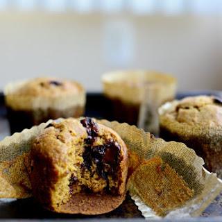 Pumpkin + Dark Chocolate Muffins