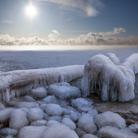 Frozen Moments  by Victor Tomasicchio - Landscapes Waterscapes ( lake ontario, canada, toronto, winter, ice,  )