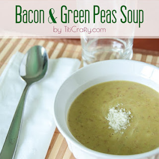 Bacon and Green Peas Soup.