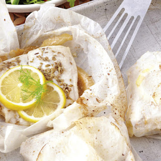 Onion and Fennel Fish Parcels