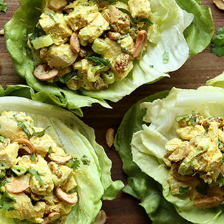 Curried Chicken Salad Lettuce Cups