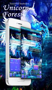 Forest Unicorn Keyboard Theme - náhled