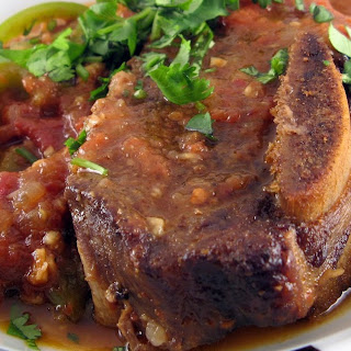 Beef Short Ribs in Chipotle & Green Chile Sauce