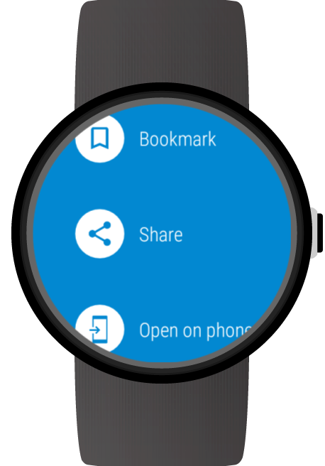 Web Browser for Android Wear: captura de pantalla